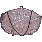 Vintage Pink Beaded and Sequin Purse