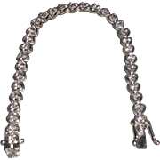 REDUCED Vintage Sterling Silver Bracelet with Cubic Zirconias