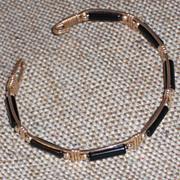 Vintage Soft Bangle Bracelet with Hook and Eye Closure