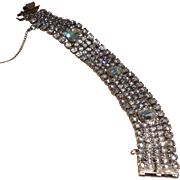 REDUCED Vintage Weiss Rhinestone Bracelet