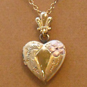 """Gold Filled Necklace with Gold Filled Heart Locket by Automade – 18"""""""