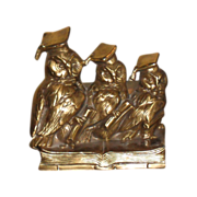 REDUCED Vintage Wise Owl Bookends by Jennings Bros.