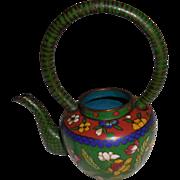 REDUCED Old Asian Miniature Cloisonné Teapot
