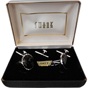 Swank Onyx Tuxedo Set in Original Box