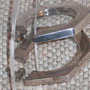 Vintage Sterling Silver Taxco Hoop Earrings - Pierced with Post
