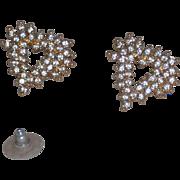 Marvella Rhinestones Modern Heart Shaped Earrings – pierced / post