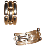 Givenchy Chain Look Vintage Gold Plated Clip Earrings