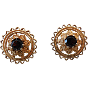 14k Yellow Gold Rubellite Tourmaline  Earrings – Post Pierced