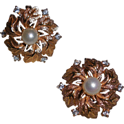 Jomaz Gold Plated Flower Clip Earrings