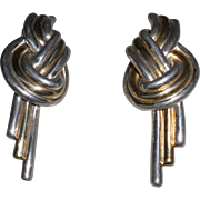 Vintage Sterling Vermeil Earrings Pierced