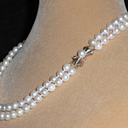 """Japanese Salt Water Cultured Pearl Necklace – 17.25"""""""
