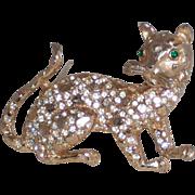 REDUCED Three Dimensional Leopard Pin/Brooch