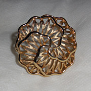 Vintage Crown Trifari Gold Plated Pin