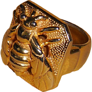 REDUCED Castlecliff Gold Plated Wasp Unisex Ring | 7.25