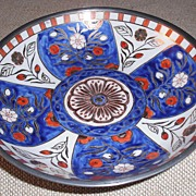 Pewter and Porcelain Bowl made for Neiman Marcus