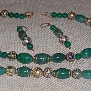 Jade and Cloisonné Parure