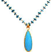 REDUCED Turquoise 24k Gold Vermeil Necklace