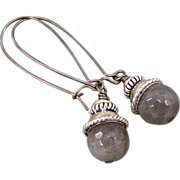 REDUCED Sterling Silver Labradorite Earrings