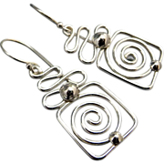 Small Spirals Sterling Silver Earrings