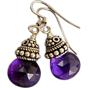 SOLD Amethyst Sterling Silver Earrings - Red Tag Sale Item
