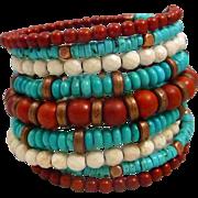 Boho Chic Turquoise Stacked Bracelet