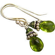 Petite Peridot Sterling Silver Earrings