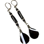 Sardonyx Long Earrings