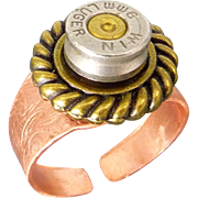Adjustable Bullet Shell Cigar Ring