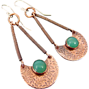 Copper Chalcedony Earrings