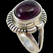 Purple Amethyst Sterling Silver Ring Size 7