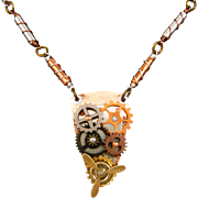 Mixed Metal Steampunk Gear Necklace