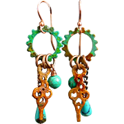 SOLD Steampunk Gear Earrings