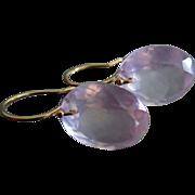 SOLD Madagascar Rose Quartz-14k Solid Gold-Pink Rose Earrings
