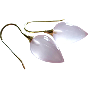 The Best Madagascar Rose Pink Quartz-14k Solid Gold Earrings
