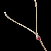 14k 4.5ct Natural Rubellite Pink Tourmaline Pendant-Solid 14k Gold Alluring Feminine Elegant N