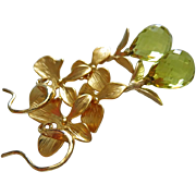 Petals-Lemon Quartz Briolette-Floral-Nature Inspired-Gold Plated Leverback Earrings