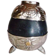vintage  Alpaca encased Argentina Industria Tea Cup Gourd / Yerba Mate