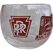 set Pennsylvania 4902 Railroad Vintage Roly Poly Low ball Glass Tumblers Train