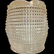 Holophane Prismatic Crystal Candle Holder