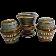 Wade Irish Pottery Salt & Pepper Shaker & Toothpick Holder Urn Set