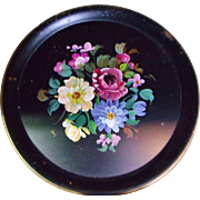 Chippy Nashco Tole Tray Hand Painted Roses Artist Signed Shabby