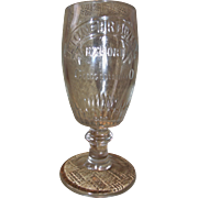 Vintage Rare Beer Glass Lion Brewery Cincinnati Ohio Beer Goblet Pre-prohibition Windisch ...