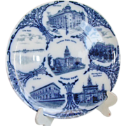SALE Denver Colorado Souvenir Plate Flow Blue Images Of Landmarks