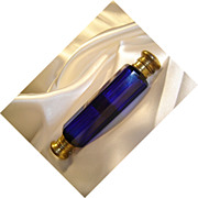 SALE Antique Victorian Cobalt Blue, Double-Ended Perfume Bottle