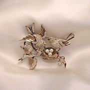 SOLD Rare House of Schrager Sterling Bird Brooch