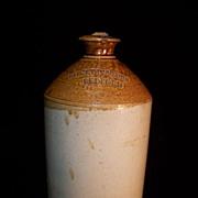 SALE Vintage Stoneware Crock Jug / Bottle- Shelton & Sons Bedford