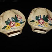 Vintage Made In Japan Bonnet Wall Pockets