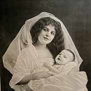 Vintage Photograph of Mother and Child- Motherhood