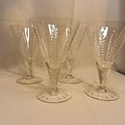 Vintage Cambridge Lexington Wine Glasses