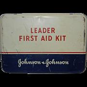 Vintage Johnson & Johnson Leader First Aid Kit